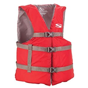 Adult Universal Boating Vest Red