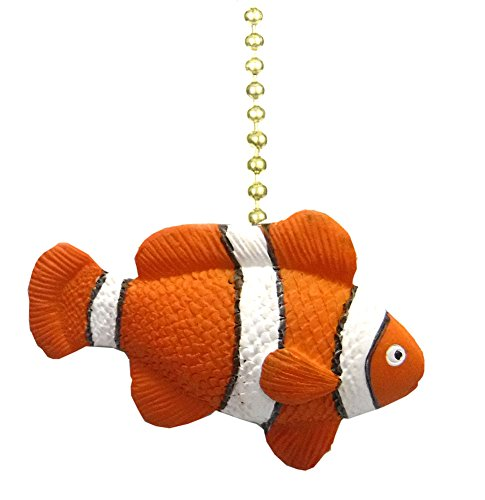 Tropical ReeF Clown Fish NeMo TiKi Ceiling Fan Light Pull