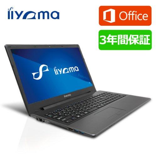 iiyama 3年保証+MS Word・Excel付 15P1200-C-TGM-DG7P[Windows 7 Pro+Office Personal Premium搭載]15.6型液晶ノートパソコン/Celeron/Windows8.1 Proダウングレードモデル ノートパソコン