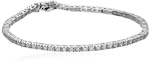 IGI Certified 14k White Gold Diamond Tennis Bracelet (1cttw, H-I Color, I1 Clarity), 7