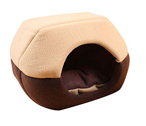 Freerun Cozy Pet Dog Cat Cave Mongolian Yurt Shaped House Bed with Removable Cushion Inside - Coffee, L (Beta Hotel compare prices)