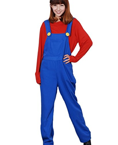 Shining Super Mario Red Cosplay Super Mario Red Suit Costume Red