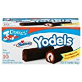 Drake's by Hostess 10 ct Yodels Frosted Creme Filled Devil's Cakes 11 oz