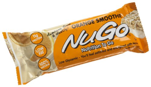 NuGo All-Natural Nutrition Bar, Orange Smoothie, 1.76-Ounce Bars (Pack of 15)