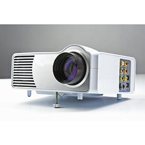 Koolertron(TM) LED Projektor LED HDMI BEAMER PROJEKTOR 720P HD 1080p(Kontrast 600: 1, Brigness: 1300 Lumen, WVGA 800 x 600 Pixel) Heimkino-AV / TV / S-VIDEO / VGA / HDMI Wii PS3 V01-Weiß