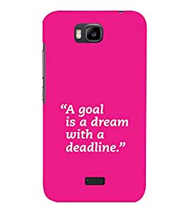 printtech Cool Quotes Back Case Cover for Huawei Honor Bee::Huawei Y 5C