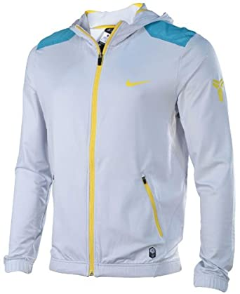 Nike Mens Kobe Lightweight Basketball Hoodie-Light Gray by Nike