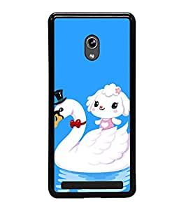 printtech Cute Duck Water Girl Back Case Cover for Asus Zenfone 6 A600CG