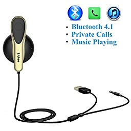 Bluetooth Headset, Wireless Car Hands Free Driving Coming with Magnetic Charging Dock 3.5mm Aux Input Jack and USB Charging Cord