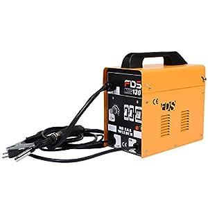 Goplus® MIG 130 Welder Flux Core Wire Automatic Feed Welding Machine w/ Free Mask by Goplus by Superbuy