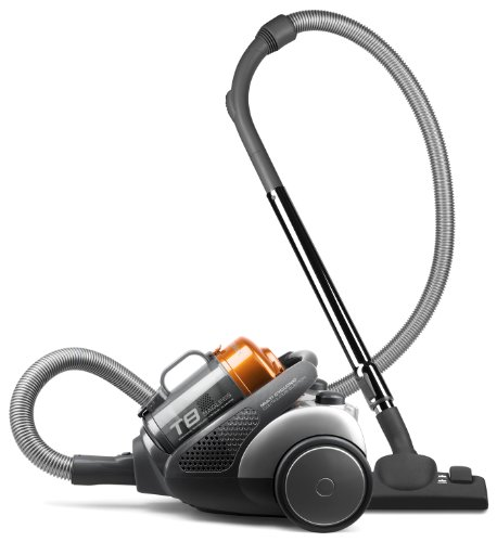 Electrolux ZT3510UK T8 Bagless Cylinder Vacuum Cleaner, Dark Grey and Orange Metallic