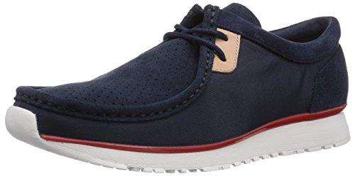 Clarks Tawyer Lo, Herren Sneakers, Blau (Navy Combi Suede), 46 EU