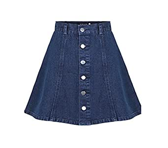 western fashion skirt single breasted denim skirt l