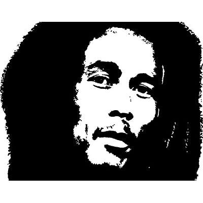Amazon.com - Bob Marley Silhouette Style #1 Vinyl Wall Art Decal -