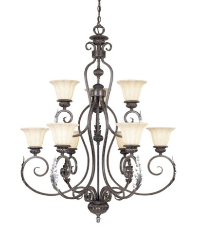 Marvelous Vaxcel USA PRCHUBA Princeton Light Traditional Chandelier Lighting Fixture in Bronze Glass Where to buy