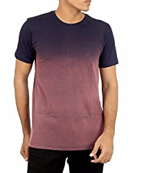 Younsters Choice Men's Cotton T-Shirt (YC-5843_Navy Blue_Large)