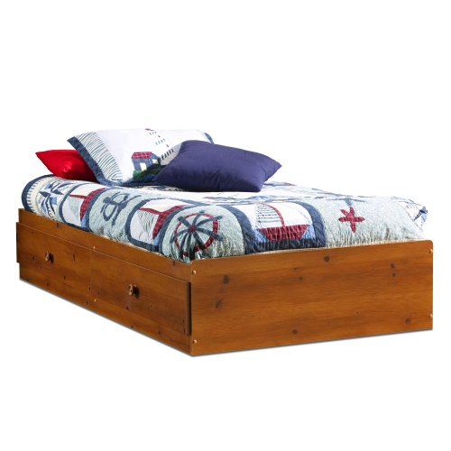 "South Shore Furniture, Sand Castle Collection, Twin Mates Bed 39"", Sunny Pine front-903284"