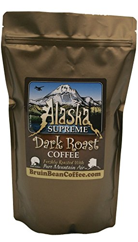 Alaska Supreme Coffee Tm, Whole Bean, Freshly Roasted In Alaska With Pure Mountain Air Tm - Specialty, Rich, Dark Blend & Premium Roast - Gourmet, Low Acidity, 12 Oz Resealable, High Quality Bags - Satisfaction Guaranteed