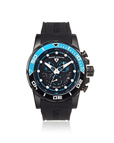 Swiss Legend Men's 21368-BB-01-EBLAB Avalanche Black/Blue Silicone Watch