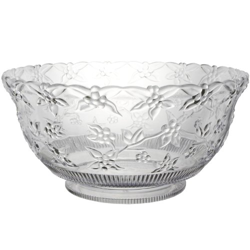 12 Quart Embossed Clear Punch Bowl