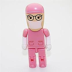8GB 8G Cartoon Pink Robot Doctor Shape USB Flash Drive USB Flash Disk Pen Drive Memory Stick Pendrive