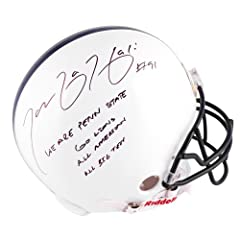 Tamba Hali Penn State Nittany Lions Autographed Riddell Pro-Line Authentic Helmet...