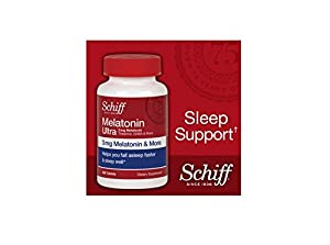 Schiff Melatonin Ultra. 300 Tablets. 3mg Melatonin + 25mg L-Theanine + 25mg GABA + Chamomile & Valerian Extracts