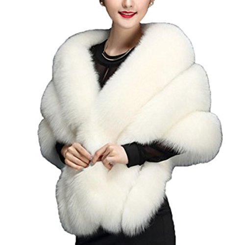 faux-fur-wrap-cape-shawl-for-womens-wedding-dresses-and-ladies-party-ivory-one-size