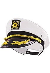 Kangaroo Adult Captain's Yacht Cap, White, Adjustable