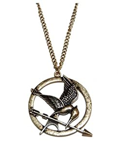 The Hunger Games Mocking Jay Collier en bronze antiques gravures détaillées sur Mockingjay
