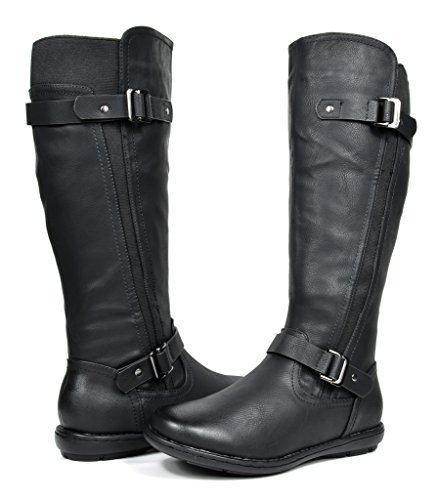 dream-pairs-trace-womens-fashion-dual-buckles-elastic-shaft-faux-fur-lined-knee-high-winter-boots-bl