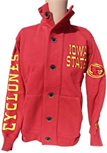NCAA Iowa State Cyclones Mens Button Collar Sweatshirt, Cardinal Gold by Donegal Bay