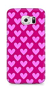 Amez designer printed 3d premium high quality back case cover for Samsung Galaxy S6 (Cool Hearts Pattern1)