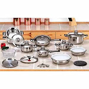 Element 28 piece Stainless Steel Cookware