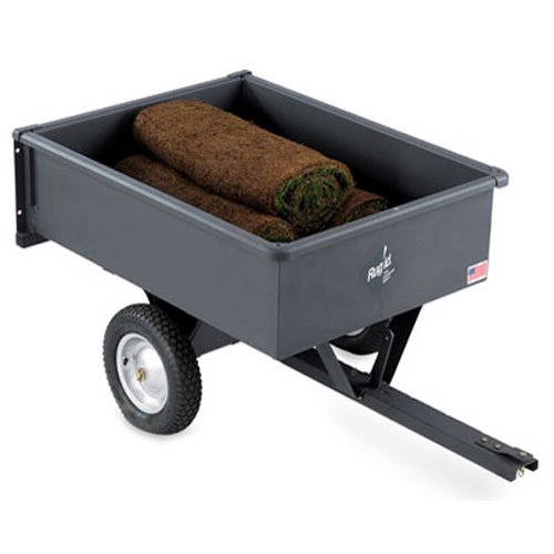 Precision Products 10-Cubic Foot Trailer Dump Cart LDT-1002GY (Wheelbarrow 10 Cubic Feet compare prices)