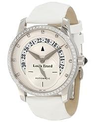 Louis Erard Women's 91601SE50.BDV12 Emotion Automatic Diamond White Patent Date Watch