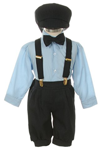 Vintage Dress Suit-Tuxedo Knickers Outfit Set Baby Boys & Toddler-Navy-Blue Pinstripe