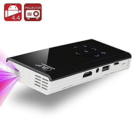 Mini vidéoprojecteur DLP 120 Lumens - Android 4.4 / CPU Quad Core 1.4 GHz / 1GB RAM / Contraste 1000:1 / Wi-Fi / DLNA / Miracast / Airplay / Blanc