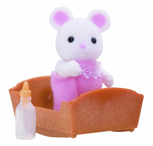 Sylvanian Families Mouse Baby (White)