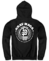 Krav Maga Hoodie. Thumbsdown. Israel System Of Self Defense And Fighting Skill. MMA Sweat ? capuche