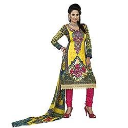Khazana Women's Unstitched Dress Material (khazana-pk-05_Yellow_Free Size)