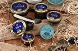 American Caviar Sampler Gift Set - Paddlefish, Bowfish, Hackleback, Russian Blinis, and Crème Fraiche (Only $9.95 Overnight Shipping!)