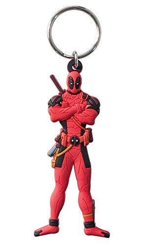 Marvel Deadpool Soft Touch PVC Key Ring Action Figure - 1