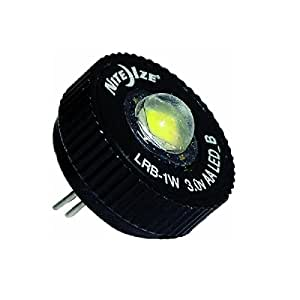 Nite Ize LRB2-07-1W 1 Watt L.E.D. Kit, Quickly Convert AA Mini MagLite from Incandescent to LED Technology