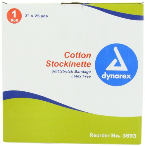 dealmed Dynarex Cotton Stockinette Soft Stretch Bandage Dressing Cotton