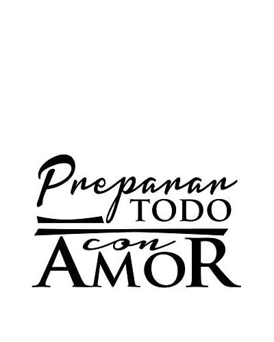 Ambiance Live Vinilo Decorativo Preparar Todo Con Amor