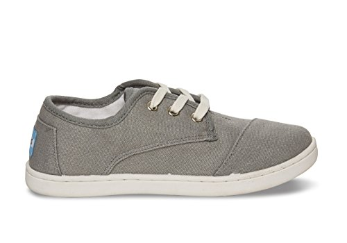Toms Ash Canvas Youth Paseos Grey/White 10002653