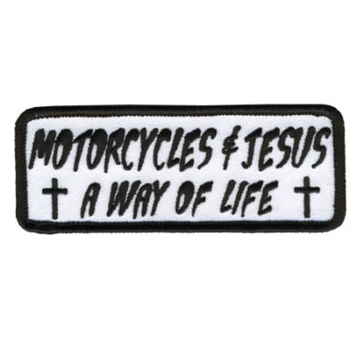 Motorcycles and Jesus Christian Cool Biker Motorcycle Vest Patch PAT-1226