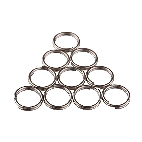 TI-EDC 10pcs Titanium Small Split Rings (12mm) (12mm Split Rings compare prices)