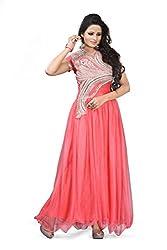 BK ENTERPRISE Women's Pink Net Atteractive Gown(bk-5001_freesize)